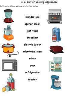 AZ LIST OF COOKING APPLIANCES